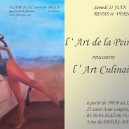 L'art de la peinture recontre l'art culinaire