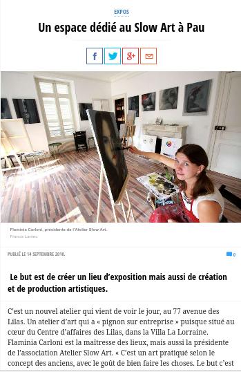 Article sur la Republique des Pyrenees - 14/09/2016