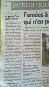Article L'Eclair, Pau 2 septembre 2015