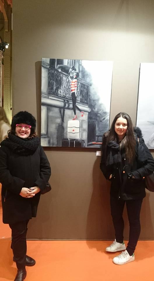 Caroline au Grand Palais avec Giulietta