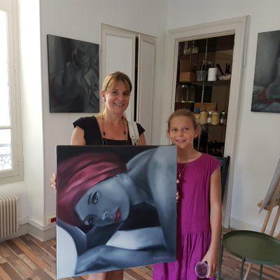 Le premier tableau vendu à l'atelier du Slow ART