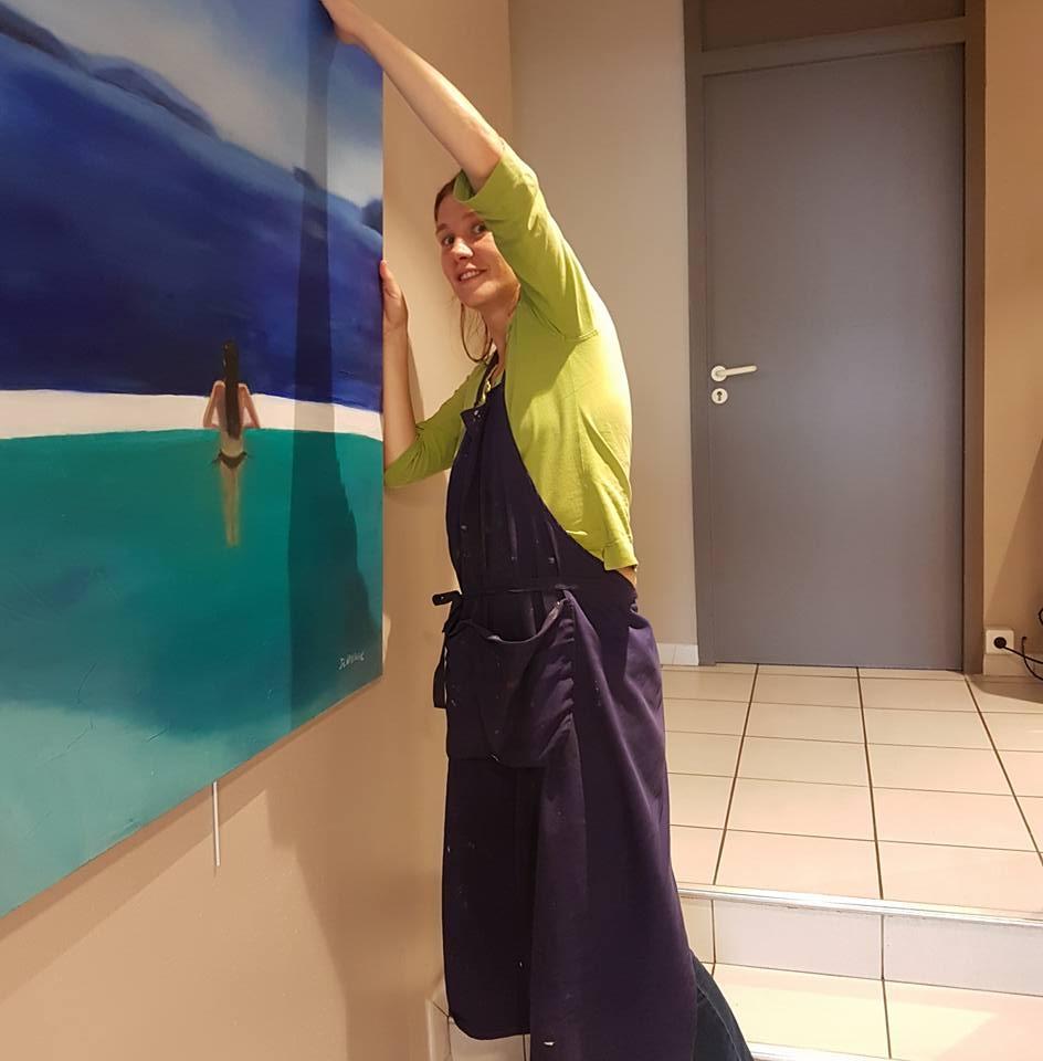 Installation de l'exposition chez Sofico
